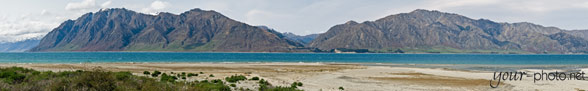 Panorama: Lake Hawea