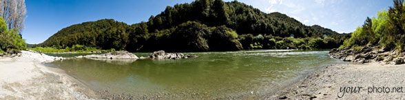 Panorama: Strand am Buller River